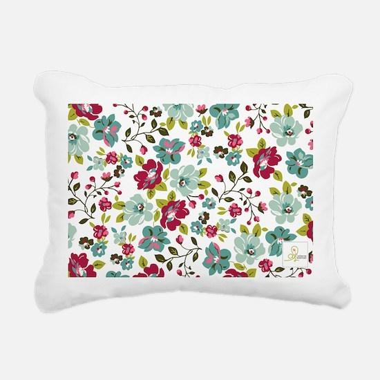 plum seed floral Rectangular Canvas Pillow