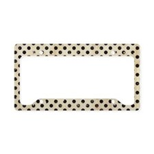 vintage polka dot License Plate Holder