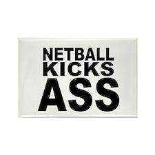 Netball Kicks Ass Rectangle Magnet (10 pack)