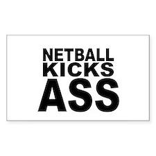 Netball Kicks Ass Rectangle Bumper Stickers