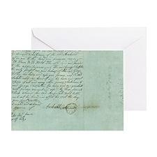 blue script Greeting Card