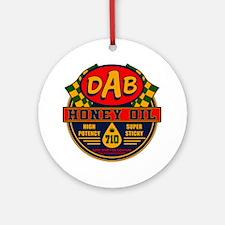 DAB Honey Oil 710 Round Ornament