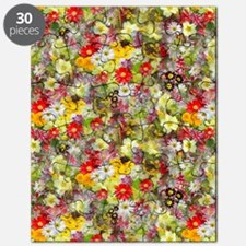Red and Yellow Spring Flowers Puzzle