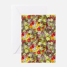 Red and Yellow Spring Flowers Greeting Card
