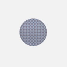 Blue and Brown Aztec Pattern Mini Button