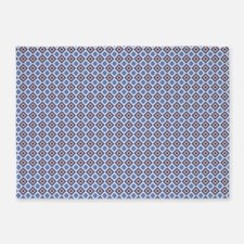 Blue and Brown Aztec Pattern 5'x7'Area Rug