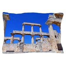 The temple of Athena Aphaea I Pillow Case