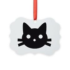 Black cat face design Ornament