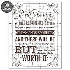 worth it quote Puzzle