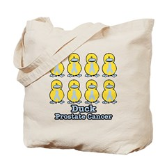 Prostate Cancer Ribbon Ducks Tote Bag