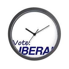 Vote Liberal (Dark, Double sided) Wall Clock
