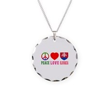 Peace Love Slovakia Necklace