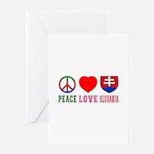 Peace Love Slovakia Greeting Card