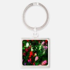 Painted Garden Square Keychain