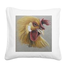 Rooster3 Square Canvas Pillow