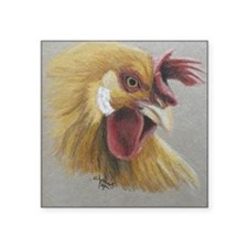 "Rooster3 Square Sticker 3"" x 3"""