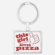 This Girl Loves Pizza Landscape Keychain