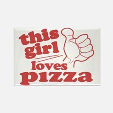 This Girl Loves Pizza Rectangle Magnet