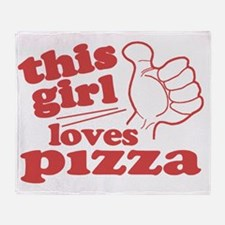 This Girl Loves Pizza Throw Blanket