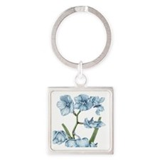Orchid Square Keychain