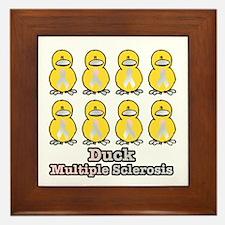 Multiple Sclerosis Awareness Ribbon Ducks Framed T