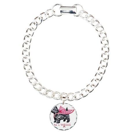 Carin Cancer Warrior Charm Bracelet, One Charm