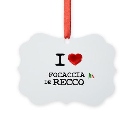 SNACKFOODS - ITALIAN - FOCACCIA D Picture Ornament