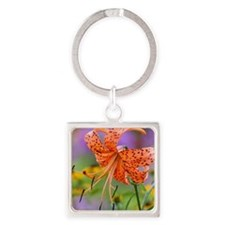 Tiger Lilly Square Keychain