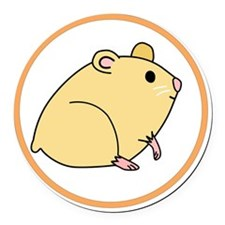 Cute Hamster Round Car Magnet