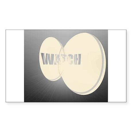 WATCH Rectangle Sticker