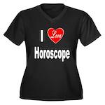 I Love Horoscope (Front) Women's Plus Size V-Neck