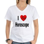 I Love Horoscope Women's V-Neck T-Shirt