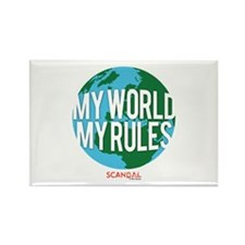 My World My Rules Rectangle Magnet