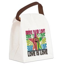 LOVE IS LOVE Canvas Lunch Bag