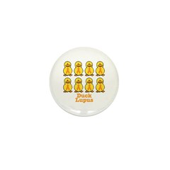 Lupus Awareness Ribbon Ducks Mini Button (10 pack)