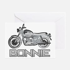 Bonnie Motorcycle Greeting Card
