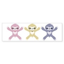 Baby Rainbow Sloths Bumper Sticker