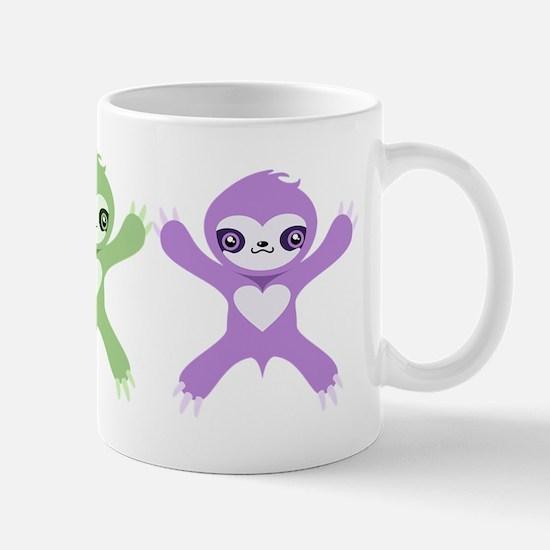 Baby Rainbow Sloths Mug