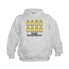 Lung Cancer Awareness Ribbon Ducks Hoodie