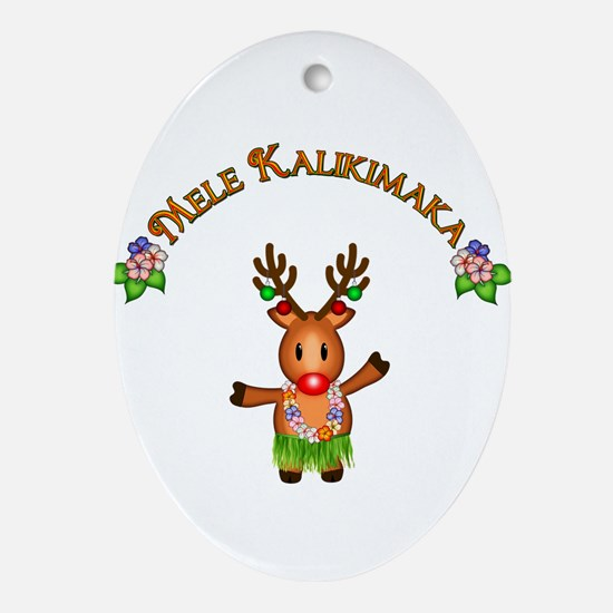 Mele Kalikimaka Ornament (Oval)