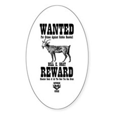 Wanted - The Goat Oval Decal