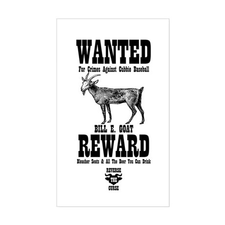 Wanted - The Goat Rectangle Sticker