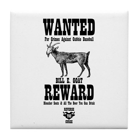 Wanted - The Goat Tile Coaster