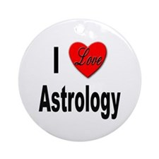 I Love Astrology Ornament (Round)