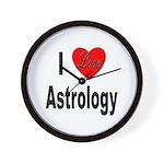 I Love Astrology Wall Clock