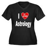 I Love Astrology (Front) Women's Plus Size V-Neck