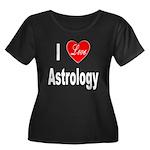 I Love Astrology (Front) Women's Plus Size Scoop N