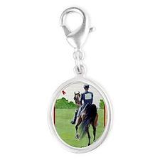American Saddlebred Horse Chris Silver Oval Charm