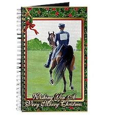 American Saddlebred Horse Christmas Journal