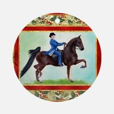American Saddlebred Horse Christmas Round Ornament